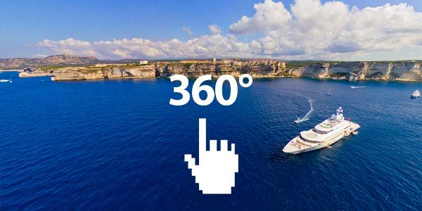 Порты Корсики 360° воздушного