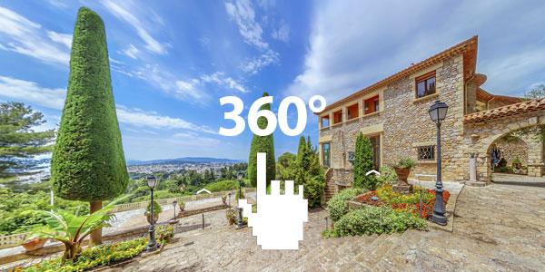 Villa Domergue в Каннах в 360°