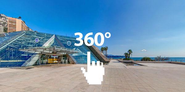 35 000 m2 du Majestueux Grimaldi Forum de Monaco en 360