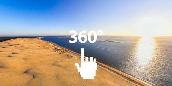La dune du Pila à Arcachon en 360°