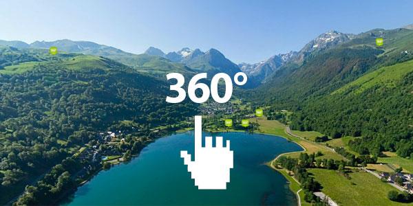 La Vallée du Louron en 360° aérien